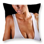 Sweat Throw Pillow by Jt PhotoDesign