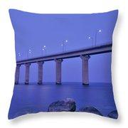 Sweden, The Bridge To The Island Throw Pillow