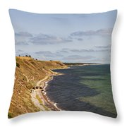 Swedish Coastline Throw Pillow