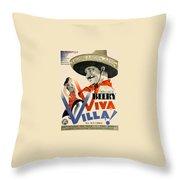 Swedish Poster #1   Viva Villa 1934-2008 Throw Pillow