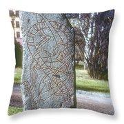 Swedish Runestone Throw Pillow