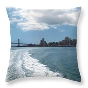 Sweeping Away From The City Throw Pillow