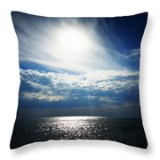 Sweeping Clouds Throw Pillow