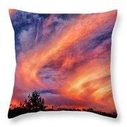 Sweeping Sunset Throw Pillow