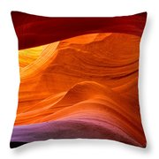 Sweeping Swirls Throw Pillow