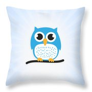 Sweet And Cute Owl Throw Pillow