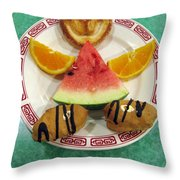 Sweet Angel 01 Throw Pillow by Ausra Huntington nee Paulauskaite