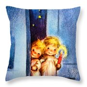 Sweet Angles Throw Pillow