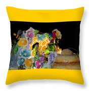 Sweet As Honey - Honey Bees Throw Pillow