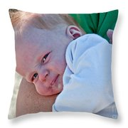 Sweet Baby Bubbles Art Prints Throw Pillow