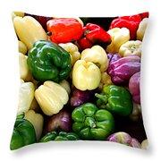Sweet Bell Peppers Throw Pillow