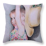 Sweet Caroline Throw Pillow by Kathy Weidner