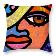 Sweet City Woman Throw Pillow