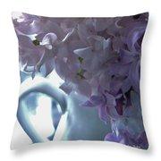 Sweet Cream Lilac Throw Pillow