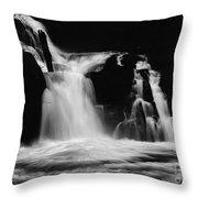 Sweet Creek Falls Oregon Monochrome Throw Pillow