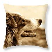 Sweet Doggie Throw Pillow