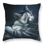 Sweet Dreams Throw Pillow by Cynthia House