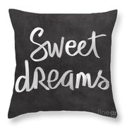 Sweet Dreams Throw Pillow by Linda Woods
