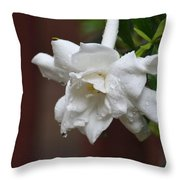 Sweet Gardenia Rain Throw Pillow