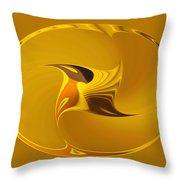 Sweet Golden Spinner Throw Pillow