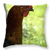 Sweet Hen Throw Pillow