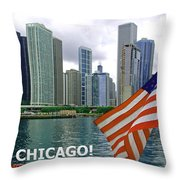 Sweet Home Chicago II Throw Pillow