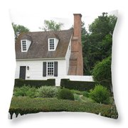Sweet Home In Colonial Williamsburg Throw Pillow