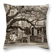 Sweet Home New Orleans 2 Sepia Throw Pillow