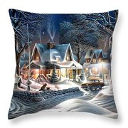 Sweet Homes Throw Pillow