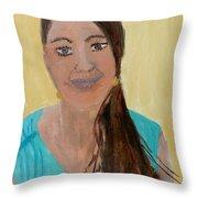 Sweet Lady  Throw Pillow
