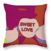 Sweet Love Candy Throw Pillow