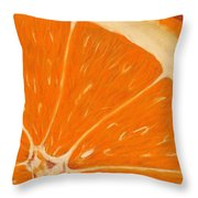 Sweet Orange Throw Pillow