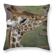Sweet Palm Pixelated Throw Pillow
