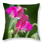 Sweet Peas Throw Pillow