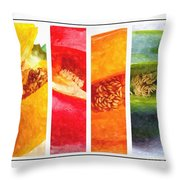 Sweet Pepper Watercolor Throw Pillow