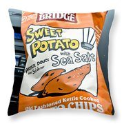 Sweet Potato Chips Throw Pillow