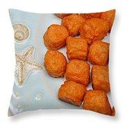 Sweet Potato Puffs Throw Pillow