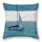 Sweet Sail Throw Pillow