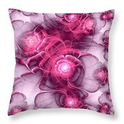 Sweet Sakura Throw Pillow