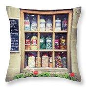 Sweet Shop Throw Pillow