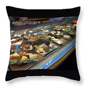 Sweet Street Treats Throw Pillow