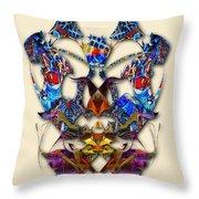 Sweet Symmetry - Flu Bugs Throw Pillow