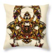 Sweet Symmetry - Kiss Throw Pillow