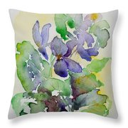 Sweet Violets Throw Pillow