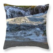 Swell And Receed  Throw Pillow