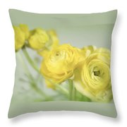 Swell Of Yellow Throw Pillow