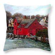 Swells In The Harbor Throw Pillow