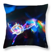Swerve And Rave Throw Pillow