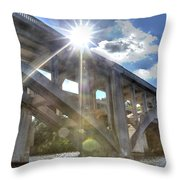 Swift Island Bridge 1 Throw Pillow