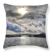 Swift Island Bridge 4 Throw Pillow